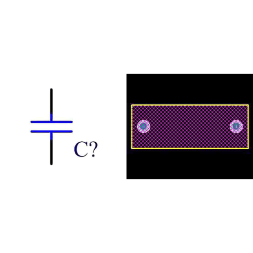 فوت پرینت خازن پلی استر 10n 630v