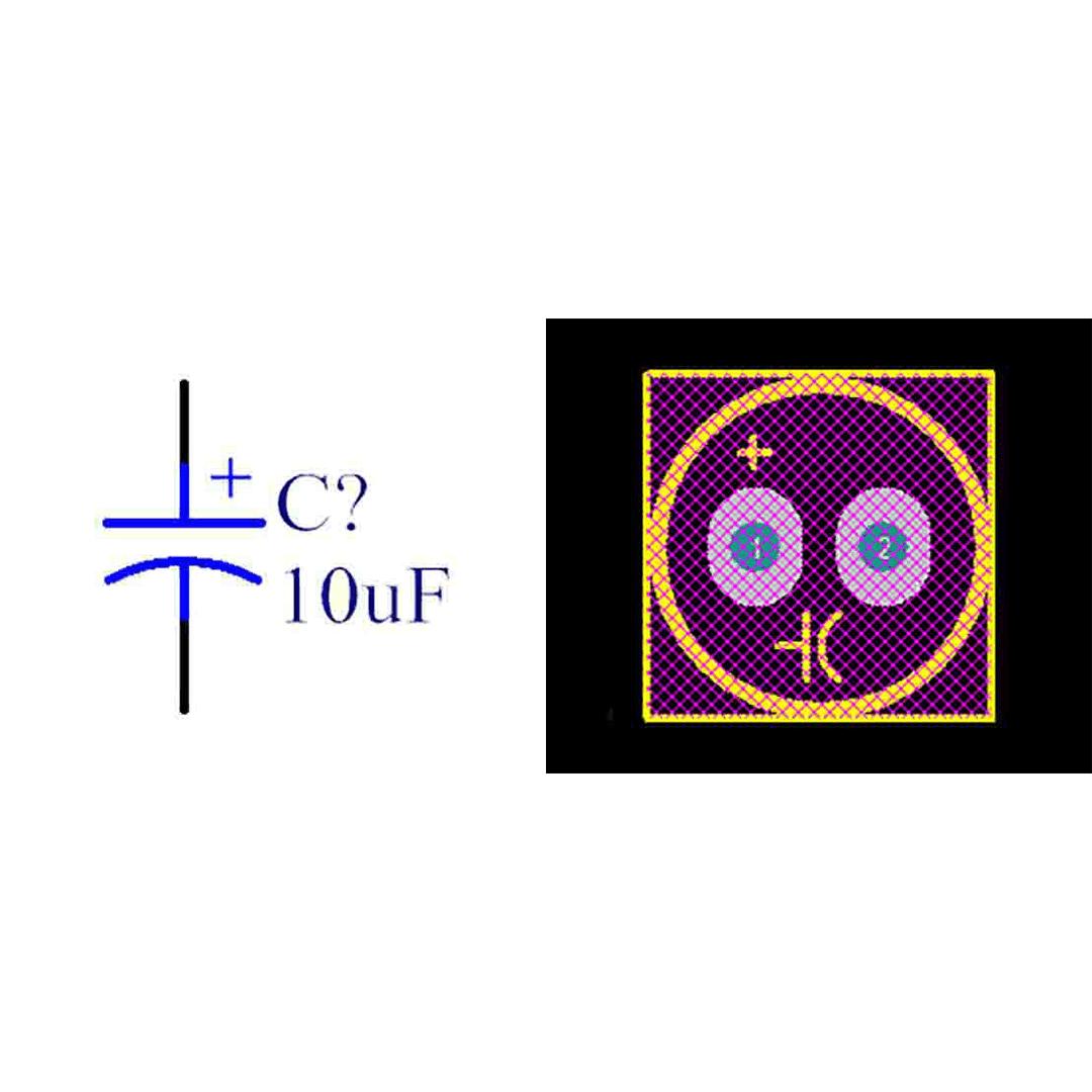 فوت پرینت خازن الکترولیتی 4x7-1.5