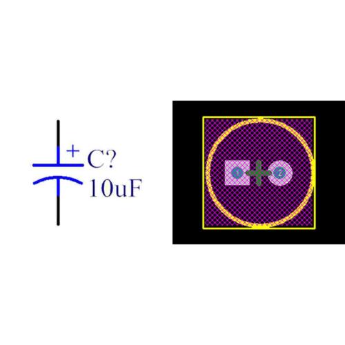فوت پرینت خازن الکترولیتی 2-5x12