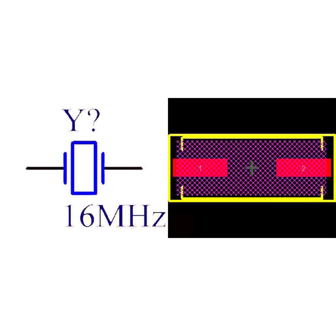 فوت پرینت کریستال HC49SM