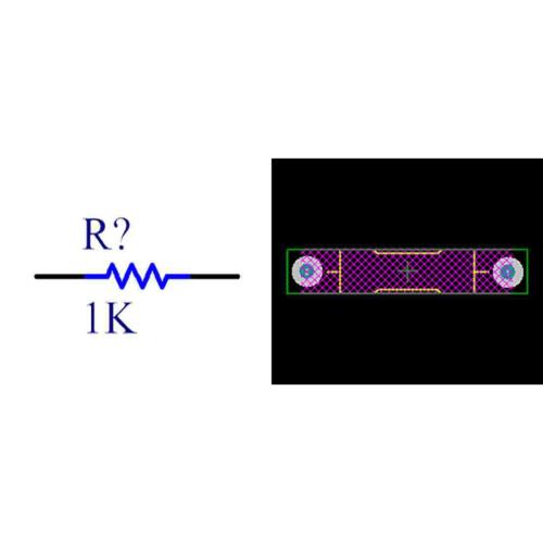 فوت پرینت مقاومت کربنی 0.25W