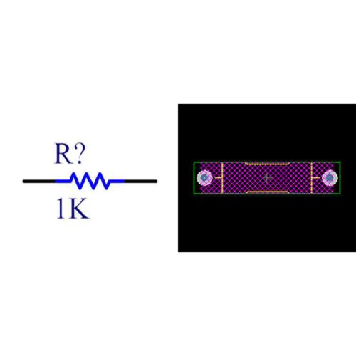 فوت پرینت مقاومت کربنی 0.5W
