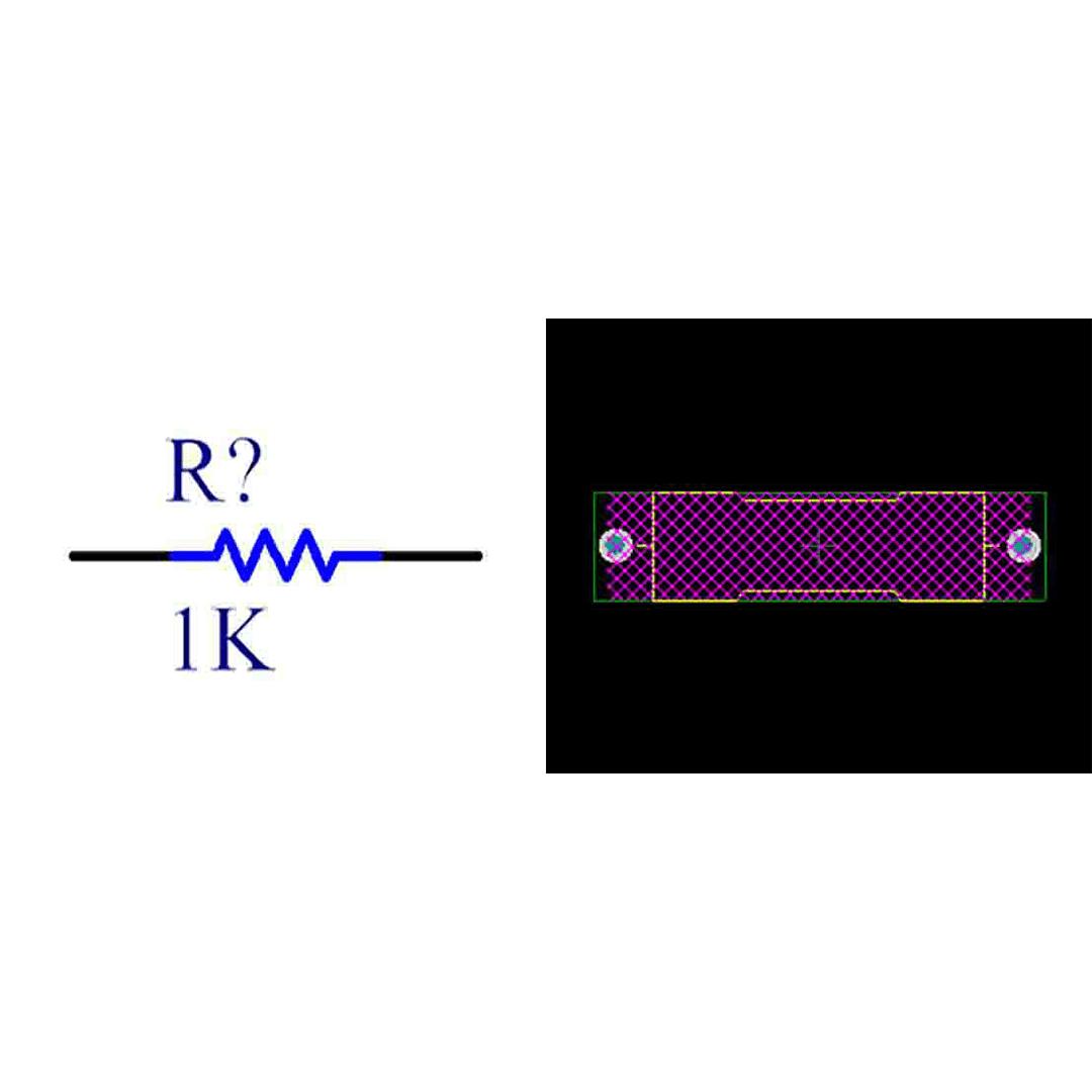 فوت پرینت مقاومت کربنی 3W