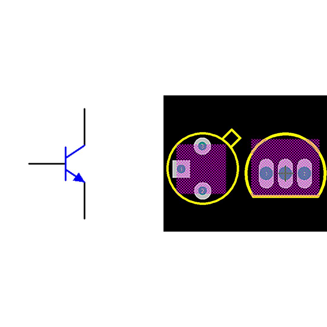 فوت پرینت ترانزیستور 2N2222