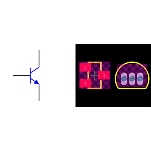 فوت پرینت ترانزیستور 2N3904