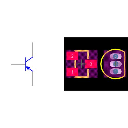 فوت پرینت ترانزیستور 2N3906