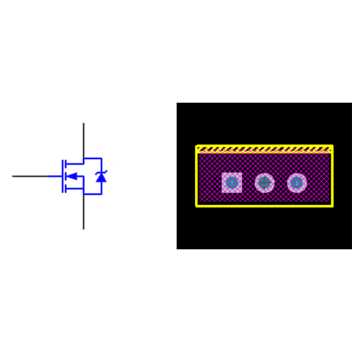 فوت پرینت ترانزیستور IRF640