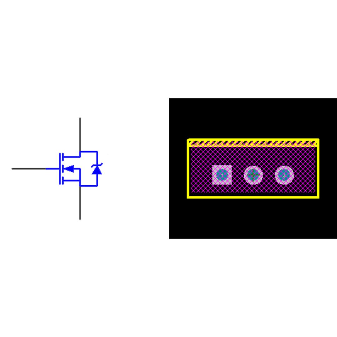 فوت پرینت ترانزیستور IRFZ44