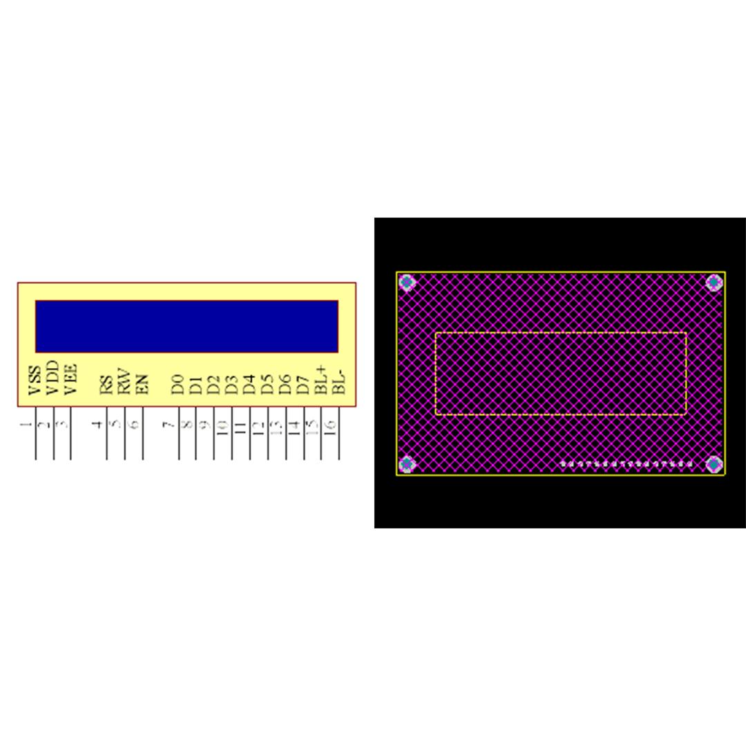 فوت پرینت LCD 20x4 ابی