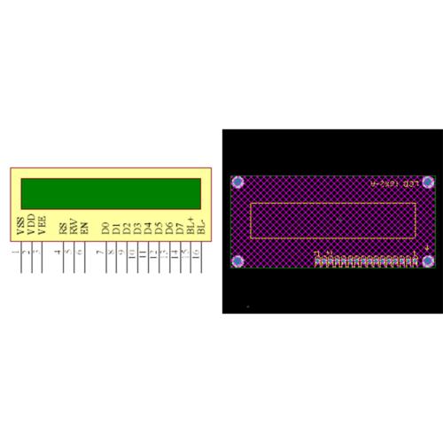 فوت پرینت LCD 2x16 سبز