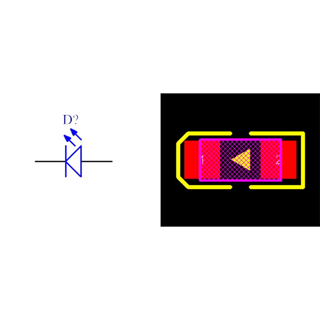 فوت پرینت LED SMD پکیج 1206