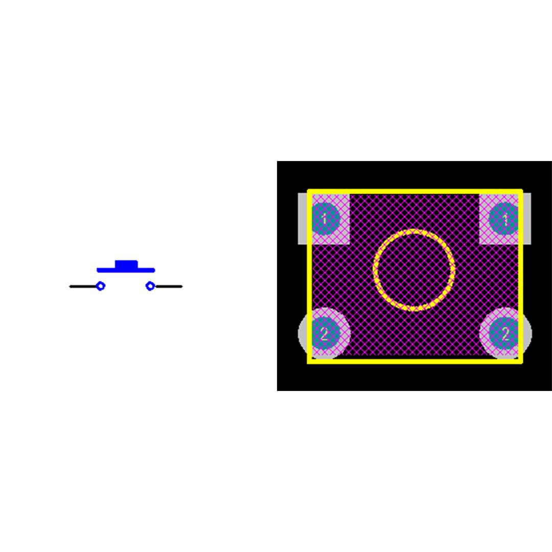 فوت پرینت میکروسوئیچ چهار پایه