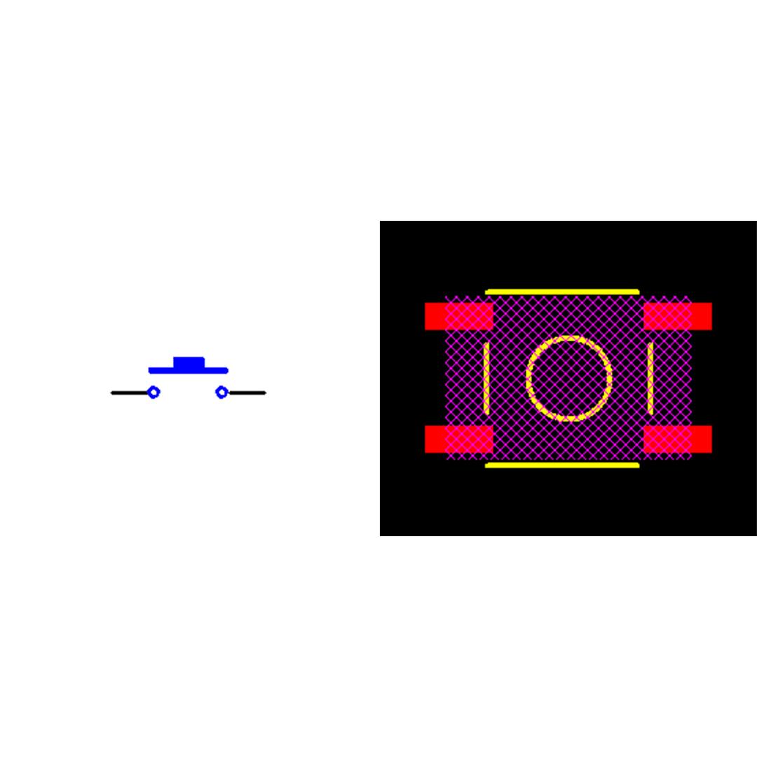 فوت پرینت میکروسوئیچ چهار پایه SMD