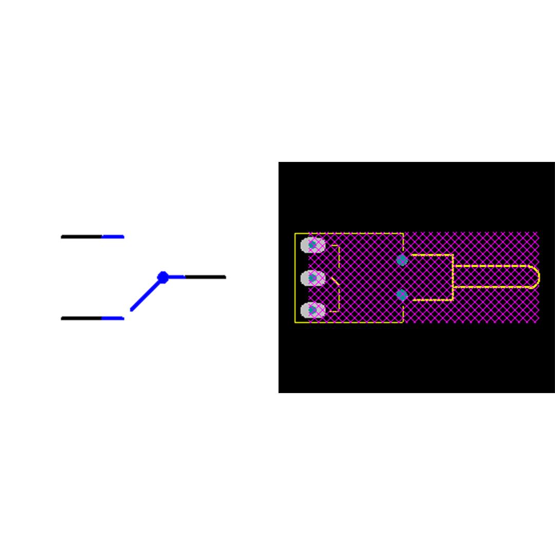فوت پرینت کلید کلنگی 2 حالته 3 پایه خوابیده