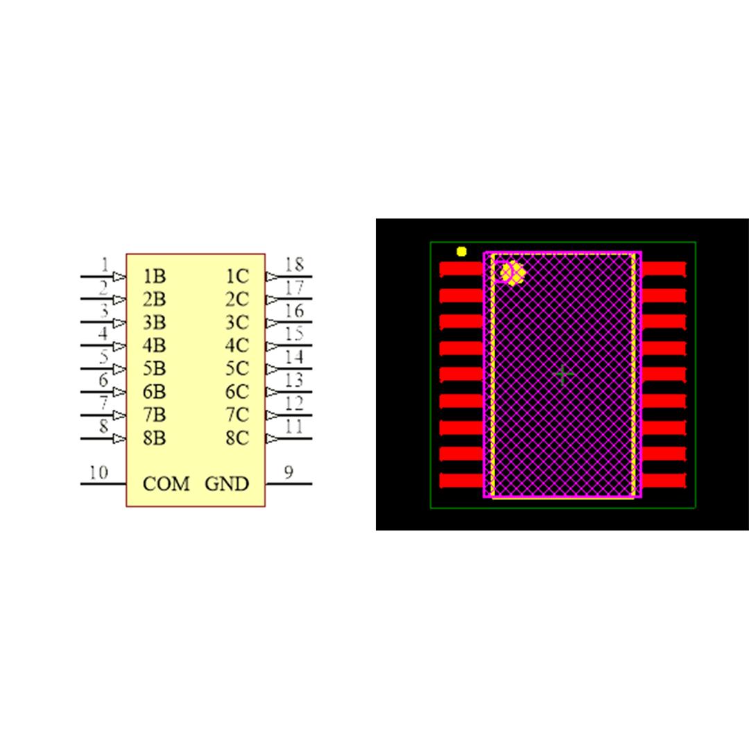 فوت پرینت ای سی ULN2803 SMD