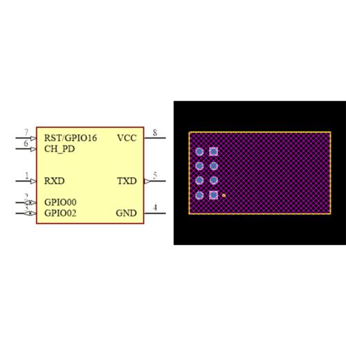فوت پرینت ماژول وای فای ESP8266