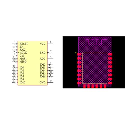 فوت پرینت ماژول ESP8266_12F