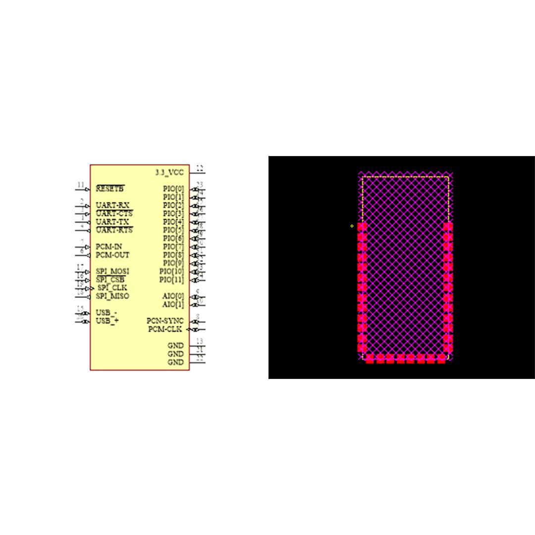 فوت پرینت ماژول HC05 SMD