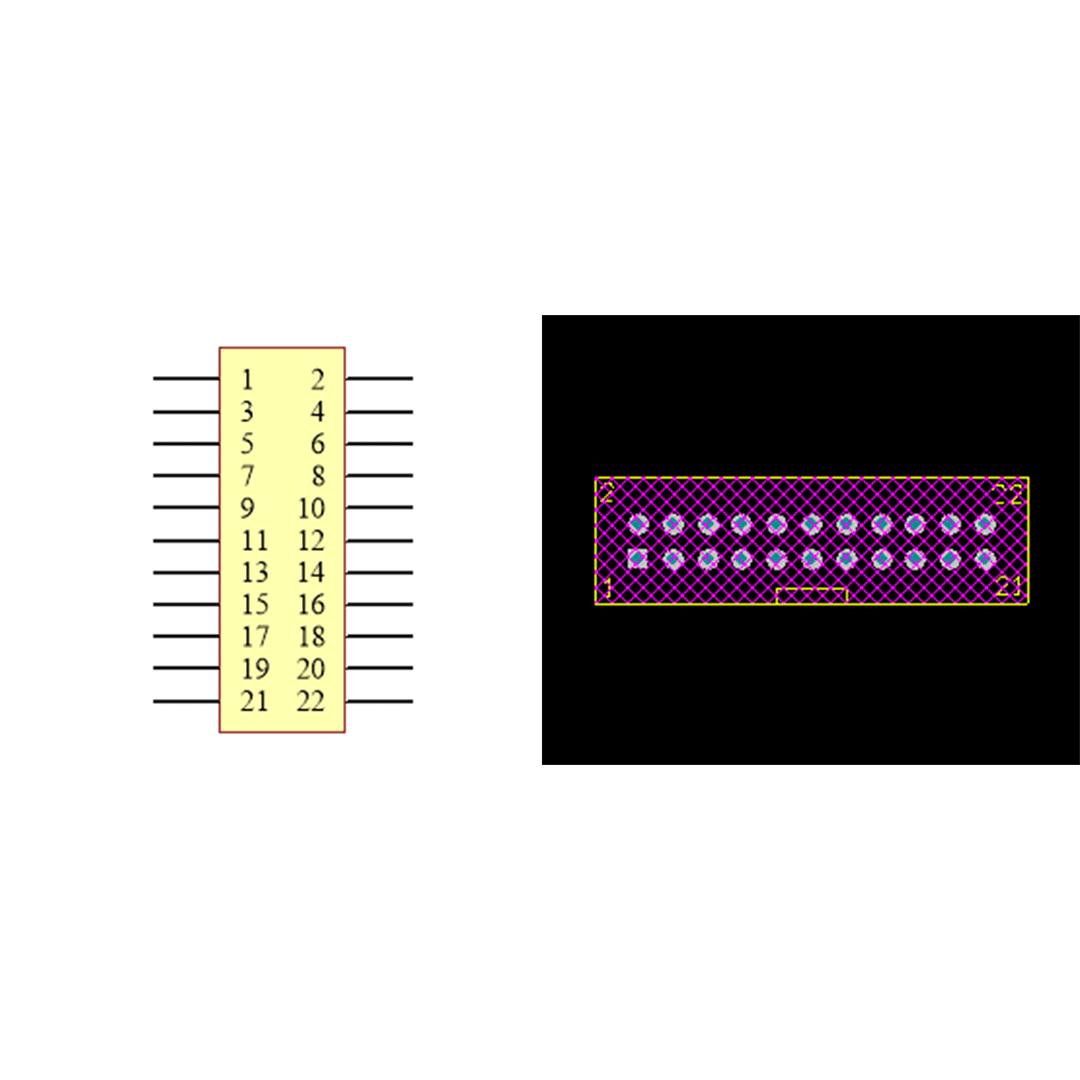 فوت پرینت باکس هدر IDC2X11