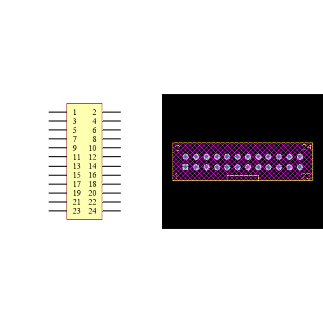فوت پرینت باکس هدر IDC2X12