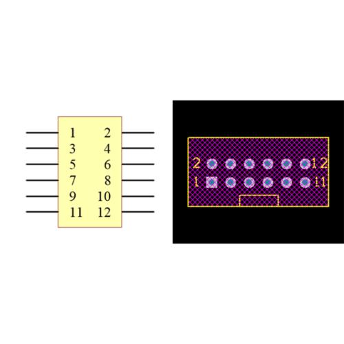 فوت پرینت باکس هدر IDC2X6