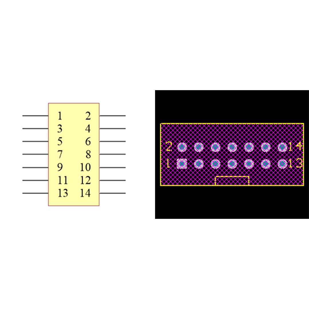 فوت پرینت باکس هدر IDC2X7