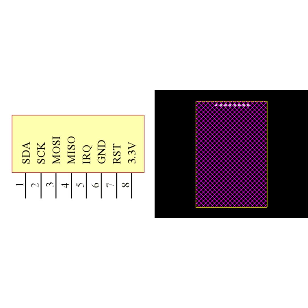 فوت پرینت ماژول RC522