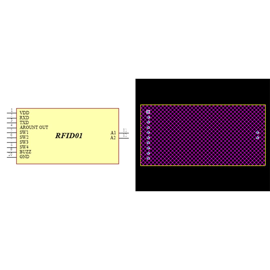 فوت پرینت ماژول RFID01